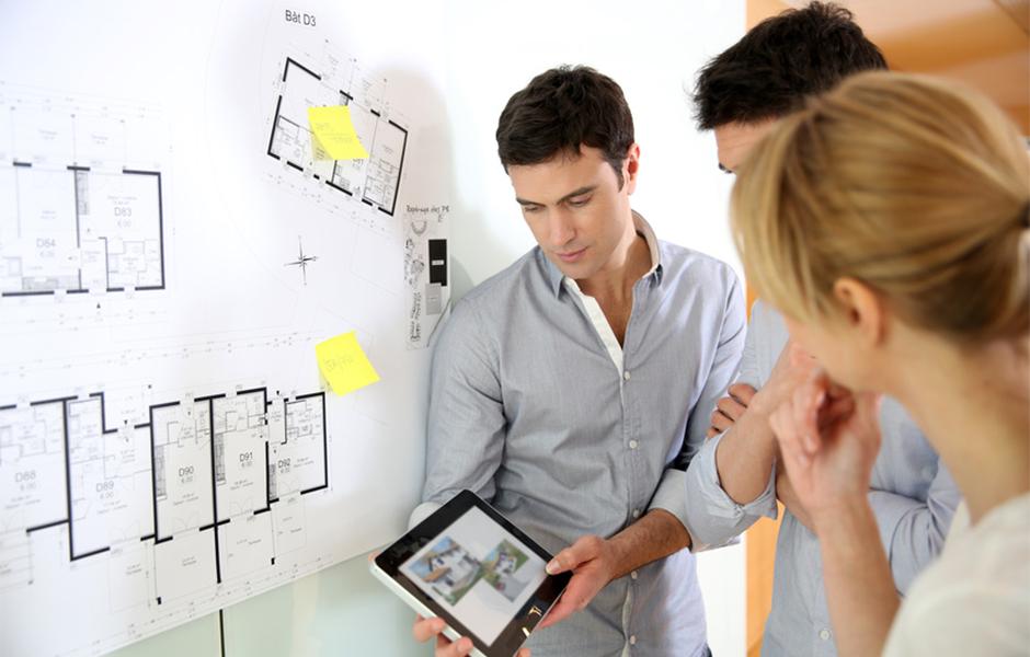 Teammeeting während der Planung