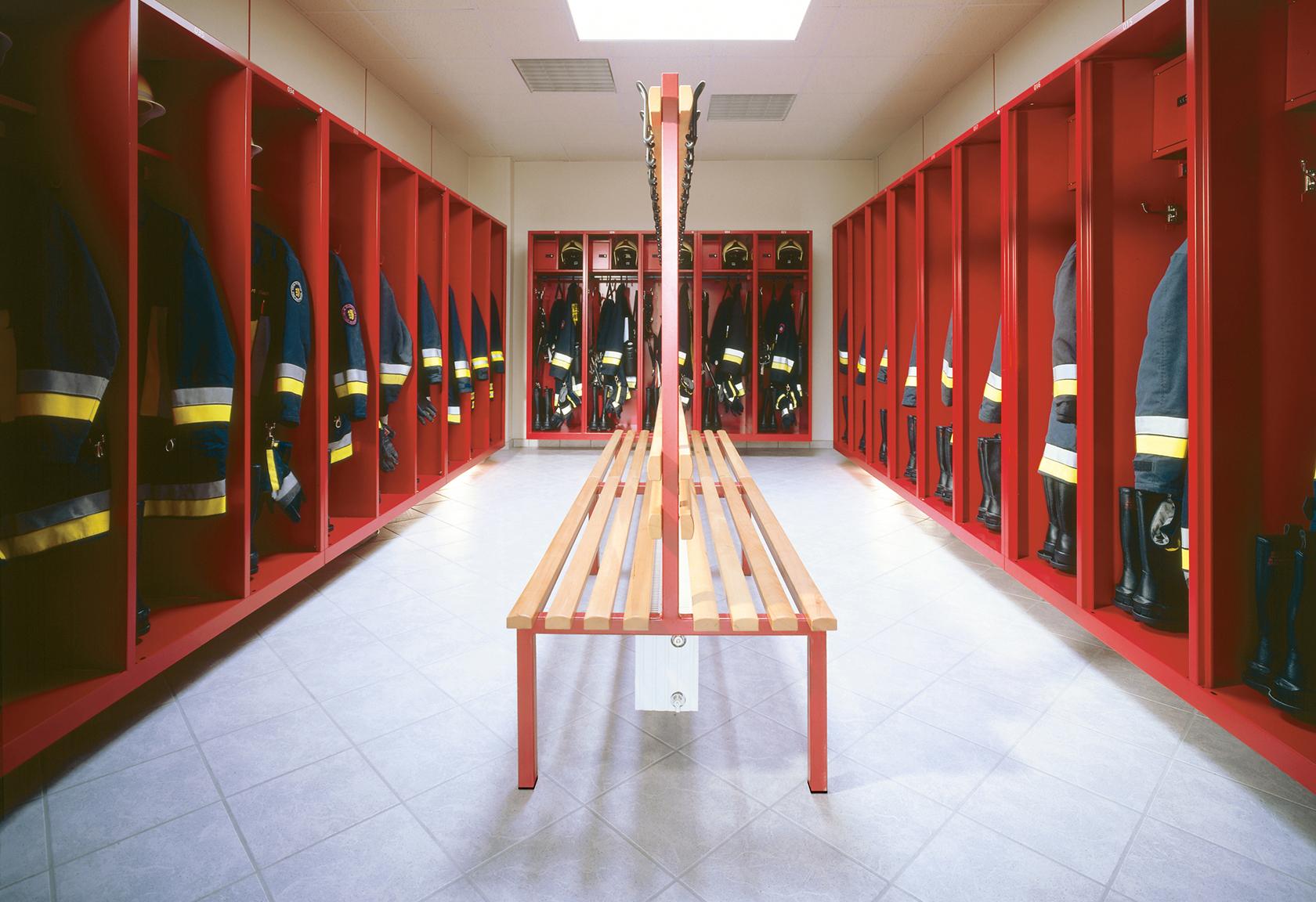 Umkleideräume für Feuerwehren