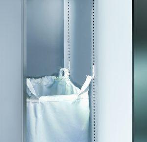 Wäschesackhalterung mit vier stabilen Haltehaken