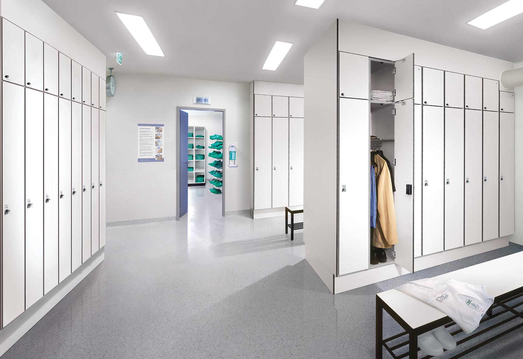 Umkleideraum für Kliniken